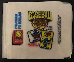 Lof Of (24) Vintage 1973 Baseball Super Freaks Empty Donruss Wax Wrappers