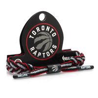 Rastaclat NBA Toronto Raptors Black Red Basketball Shoelace Bracelet RC001TR