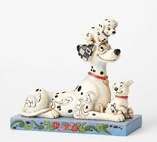 Disney Traditions Puppy Love (Pongo with Penny and Rolly) Figurine NEW  27341