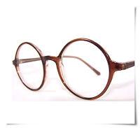 Slight Basic Round Reading Glasses Brown ALL Strength