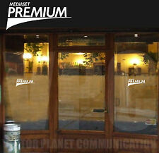 adesivo mediaset premium 2 adesivi sticker vetrine vetri muri partite calcio