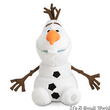 "Disney Store Authentic Olaf Snowman Plush Doll Size 9"" H Seated Frozen NWT"