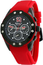 Omax PA20M20A Men's Elite Sports Collection Multi-Functional Red Band Watch