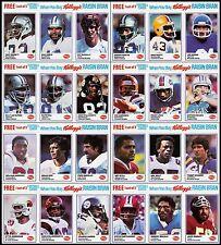 1982 Kellogg's Raisin Bran - NFL Football Complete Set of 24 - MINT