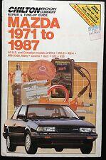 1971 - 1986 1987 MAZDA RX2 RX3 RX4 808 1300 1600 COSMO GLC 323 626 REPAIR MANUAL