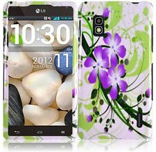 For AT&T LG Optimus G E970 HARD Case Snap On Phone Cover Green Lily