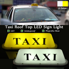 12V Taxi Cab Magnetic Base Roof Topper Top Car LED Sign Light Lamp Waterproof