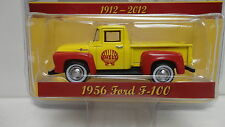 Greenlight 1956 FORD F-100 Red & Yellow SHELL 100 Years '56 Pickup Truck w/RR