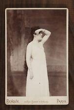"""Sybil Sanderson dans """"Roméo et Juliette"""" Opéra Soprano Photo Cabinet card Benque"""