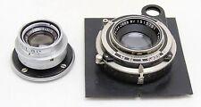 2x vintage lens Zeiss Tessar 4,5/105mm & Ikon shutter, Schneider Componar 4,5/75