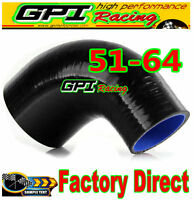 "NEW 2""-2.5"" 51mm to 64mm Silicone 90 Degree Elbow Reducer Pipe Hose INTERCOOLER"