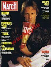 Paris Match n° 2000 du 25/09/1987 Christophe Lambert Titanic d'Ormesson Nouméa