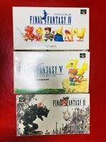 Final Fantasy 4 5 6 Set Super Famicom SNES Nintendo Japanese version Tested