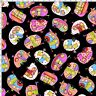 Loralie Harris Happy Camper Tipsy Trailers Toss Black Cotton Fabric By The Yard