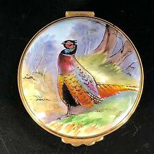 Kingsley Enamels Pheasant Trinket Box Worcestershire England Hand-painted