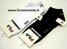 3 Paare Socken Pedulino Frau FILA Kurz aus Baumwolle mit Logo Ricamoto Art F9100