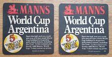 Vintage MANNS  -  Beer Mats (2)