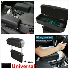 Car Center Console Adjustable Armrest Storage Box+USB Cable Interior Accessories