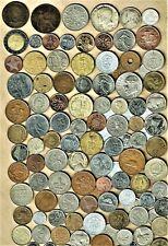 "World Coins lot ""G"",100+ mixed w/silver(3),Bimetallic+vintage(2)+ A.U/.B.U.(6+)"