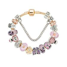 NEW Charm Bracelet with Glass Beads, Butterfly and Charms - FREE SHIPPING