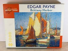 """A Premium 1000pc Puzzle """"Brittany Harbor"""" by Edgar Payne @1924 No.51895"""