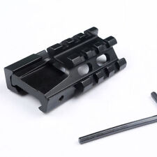 3 Slots Tri_Rail 21MM Picatinny Weaver Rail Base Riser Adapter Scope Mount Rail