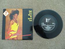 "SINITTA - RIGHT BACK WHERE WE STARTED FROM 7"" VINYL SINGLE, 1989, FAN18"
