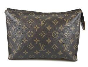 100% authentic Louis Vuitton Posh door wallet 26 M47542 second bag used 165-1-t