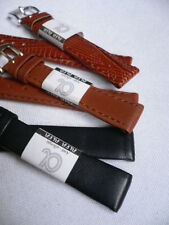 NEW 3 SET WATCH BAND GENUINE LEATHER BLACK HONEY BROWN ANTI ALLERG DRESSY 14 MM