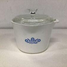 Vtg Corningware Blue Cornflower 1 Qt Saucemaker Pot With Glass Lid #454