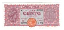 100 lire luogotenenza italia turita 10 12 1944 q.fds LOTTO 857