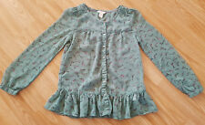 Monsoon green with birds print  blouse, shirt for girl 10 years
