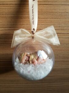 Personalised Christmas Baby Bauble Gift Keepsake