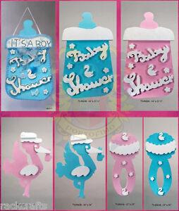 Jumbo Baby Shower Nursery Decoration Party Signs Banners Eva Foam