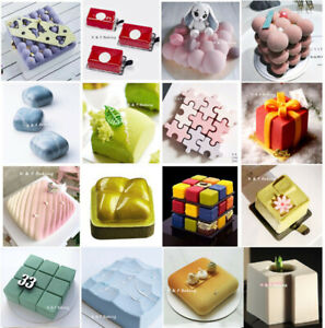 Square Pastry Baking Mold Mousse Cake Silicone Mold Chocolate Pudding Bakeware