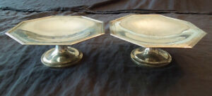 Two J.E. Caldwell Sterling Silver 3025 Queen Anne Footed Compotes Tazzas
