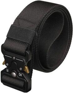 Mens Tactical Belt Heavy Duty Military Webbing Rigger Quick-Release Tool Belt
