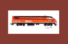 """Metra Milwaukee Road Heritage MP36 405 11""""x17"""" Matted Print Andy Fletcher signed"""