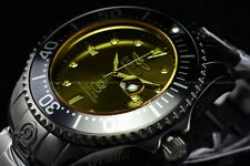Invicta 54mm Grand Diver Sunray Automatic Yellow Tinted Crystal Black SS Watch