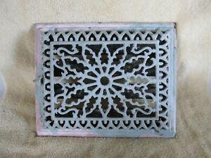 Antique Victorian Grate, Register, Cast Iron, W G Creamer, w Sunburst Pattern