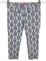 Anthropologie Cartonnier Womens Charlie Ankle Pants Sz 14 Gray Floral Damask NEW