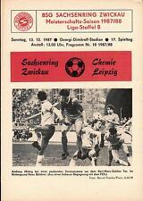 DDR-Liga 87/88 ZEPA Sajonia anillo Zwickau-BSG Chemie Leipzig, 13.12.1987