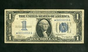 US Paper Money 1934 $1 Silver Certificate Rare Star Note  NO RESERVE!