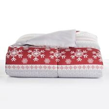 KING The Big One Down Alternative Reversible Comforter -  Red Fair-isle