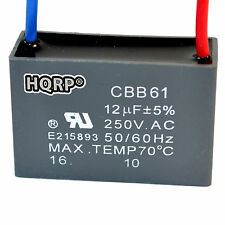 HQRP Capacitor de Motor para Hampton Bay de Ventilador 12uf, 2-Alambres / CBB61