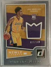 D'ANGELO RUSSELL 2015-16 DONRUSS NEWLY CROWNED GAME USED JERSEY RELIC RC /149