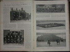 1898 BOER WAR ERA PRINT ~ ROYAL MARINE DEPOT AT WALMER STAFF NAMED MORRIS