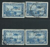 "Canada #OC6(14) PERFIN 6 cent Monoplane OFFICIAL ""O.H.M.S."" 4 Used CV$6.00"