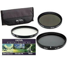 Hoya 62mm 3x Filter Kit HMC Digital UV(C) + Circular Polarising CPL + ND8 Pouch