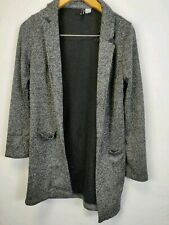 Womens Jumper Cardigan Long Length Grey Divided H m Size 6 ladies